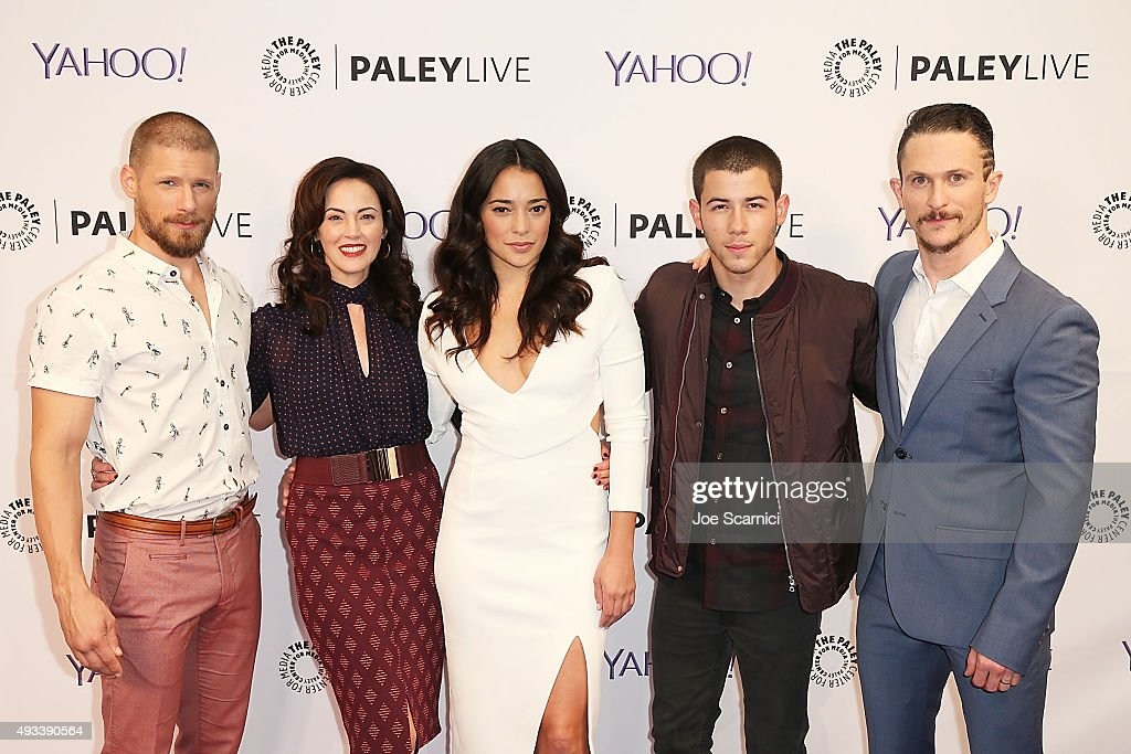 Matt Lauria Joanna Going Byron Balasco Natalie Martinez Nick Jonas and Jonathan Tucker arrive at an evening with 'Kingdom' presented by Paley Center...