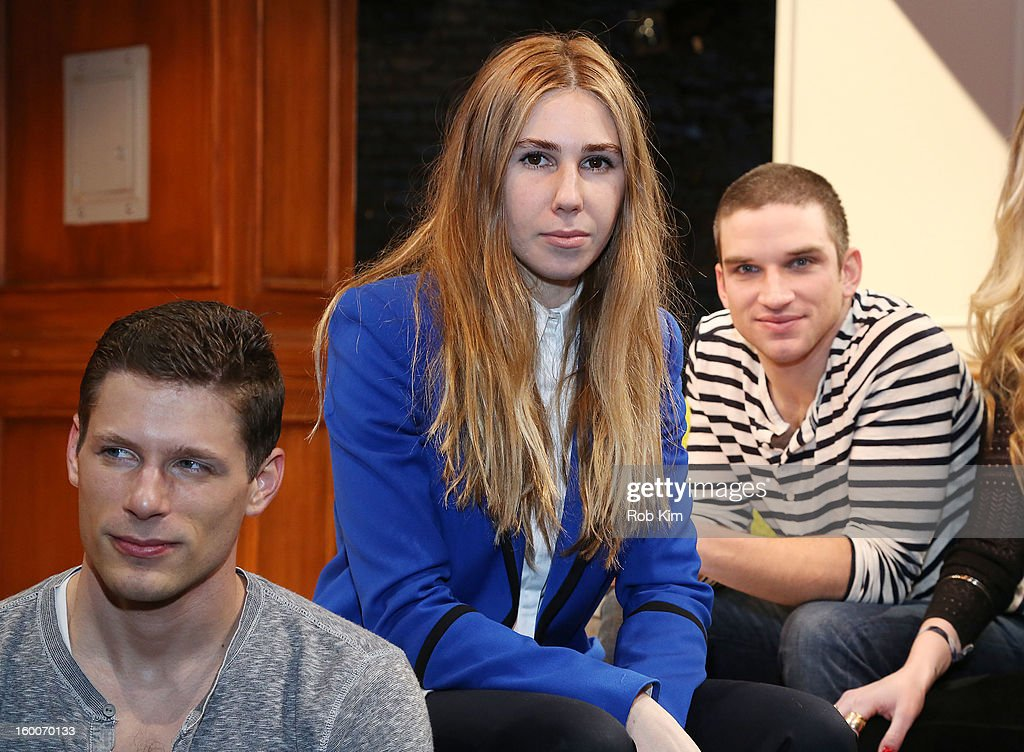 Matt Lauria, <a gi-track='captionPersonalityLinkClicked' href=/galleries/search?phrase=Zosia+Mamet&family=editorial&specificpeople=7439328 ng-click='$event.stopPropagation()'>Zosia Mamet</a> and Evan Jonigkeit attend the 'Really Really' cast photo call at Lucille Lortel Theatre on January 25, 2013 in New York City.