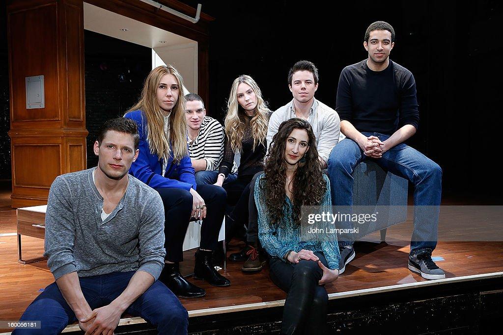 Matt Lauria Zosia Mamet David Hull Aleque Reid Evan Jonigkeit Lauren Culpepper and Kobi Libii attends the 'Really Really' Cast Photo Call at Lucille...