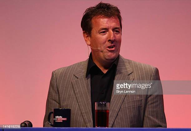 Matt Le Tissier answers questions during Gillette Soccer Saturday Live with Jeff Stelling on March 19 2012 at the Bournemouth International Centre in...