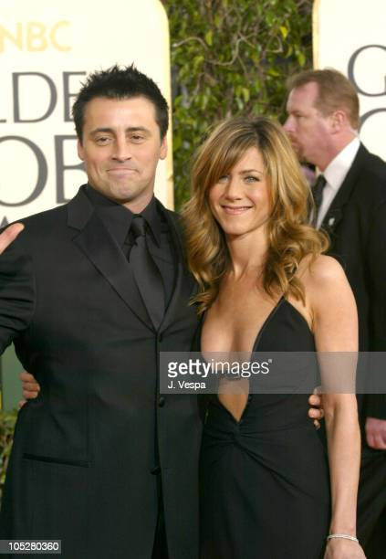 Matt Leblanc and Jennifer Aniston during The 61st Annual Golden Globe Awards Arrivals at The Beverly Hilton in Beverly Hills California United States