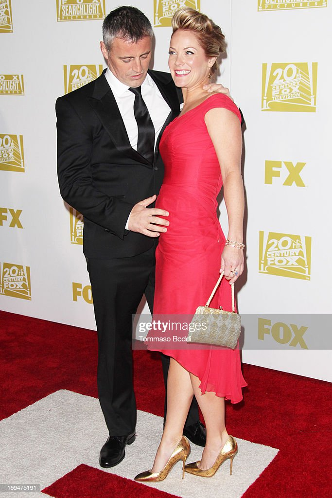 <a gi-track='captionPersonalityLinkClicked' href=/galleries/search?phrase=Matt+LeBlanc&family=editorial&specificpeople=204471 ng-click='$event.stopPropagation()'>Matt LeBlanc</a> (L) and Melissa McKnight attend the FOX Golden Globe after party held at the FOX Pavilion at the Golden Globes on January 13, 2013 in Beverly Hills, California.