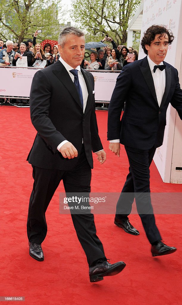 Matt Leblanc (L) and Stephen Mangan attend the Arqiva British Academy Television Awards 2013 at the Royal Festival Hall on May 12, 2013 in London, England.