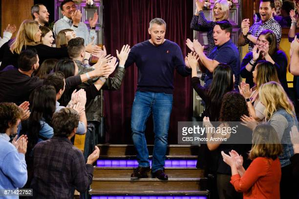 Matt LeBlanc greets the audience during 'The Late Late Show with James Corden' Monday November 6 2017 On The CBS Television Network