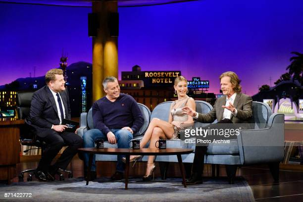 Matt LeBlanc Hailey Baldwin and William H Macy chat with James Corden during 'The Late Late Show with James Corden' Monday November 6 2017 On The CBS...