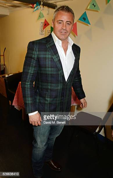 Matt LeBlanc poses backstage following a performance of 'The End Of Longing' Matthew Perry's playwriting debut which he stars in at The Playhouse...