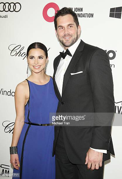 Matt Leinart and Josie Loren arrive at the 22nd Annual Elton John AIDS Foundation's Oscar viewing party held on March 2 2014 in West Hollywood...