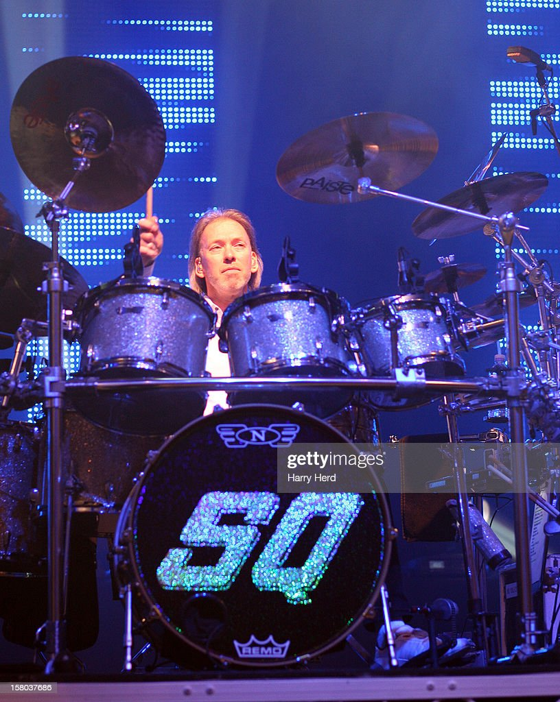 Matt Letley of Status Quo performs at Quofestive at the BIC on December 9, 2012 in Bournemouth, England.