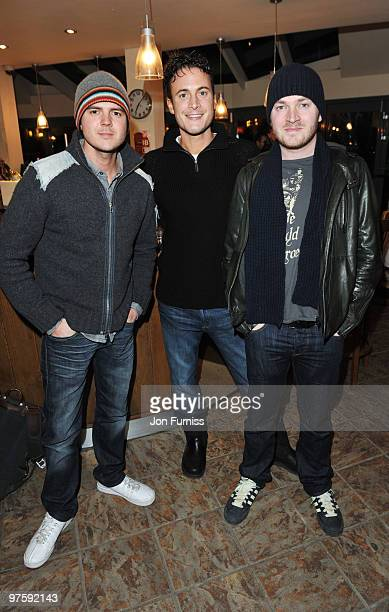 ACCESS** Matt Littler Gary Lucy and Darren Jeffries attend the launch of SAW Alive the world's most extreme live horror maze at Thorpe Park on March...