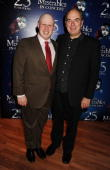Matt Lucas and Alun Armstrong attend the afterparty following the anniversary performance of 'Les Miserables' at The O2 Arena on October 3 2010 in...
