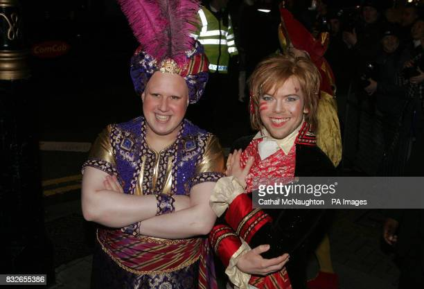 Matt Lucas and Kevin McGee arrive at the pantomimethemed reception for their civil partnership at Banqueting House in Whitehall London
