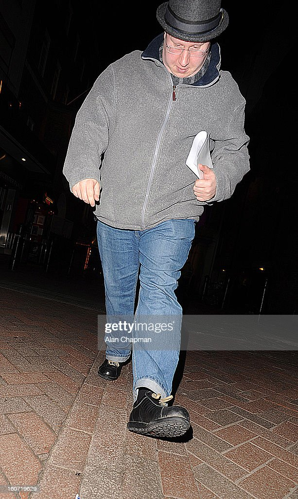 Matt Lucas sighting in Little Newport Street on February 4, 2013 in London, England.