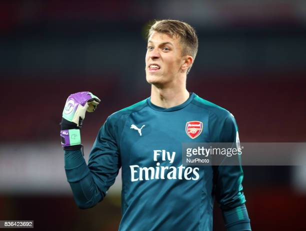 Matt Macey of Arsenal U23s during Premier League 2 match between Arsenal Under 23s against Manchester City Under 23s at Emirates Stadium London on 21...