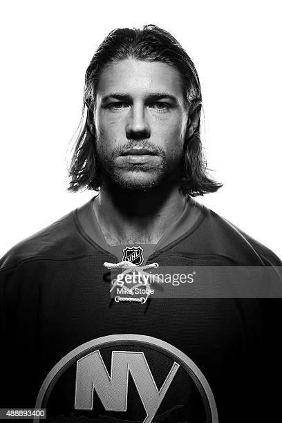 Matt Martin of the New York Islanders poses for a portrait on September 17 2015 at the Nassau Coliseum in Uniondale New York