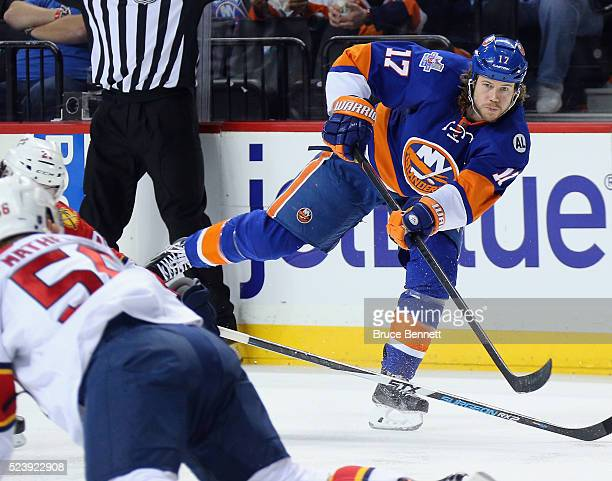 Matt Martin of the New York Islanders skates against the Florida Panthers in Game Six of the Eastern Conference First Round during the 2016 NHL...