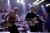 Matt Maust and Nathan Willett of Cold War Kids perform during Radio 947's Electric Christmas at Memorial Auditorium on December 9 2015 in Sacramento...