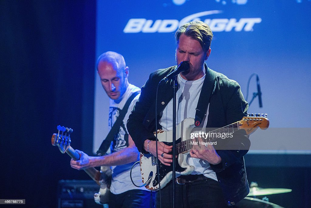 Matt Maust (L) and Nathan Willett of Cold War Kids perform on stage during the Sasquatch Launch Party at Neptune Theatre on February 3, 2014 in Seattle, Washington.