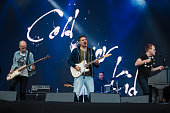 Matt Maust Nathan Willett and Jonnie Russell of Cold War Kids performs live on stage at Autodromo de Interlagos on March 12 2016 in Sao Paulo Brazil
