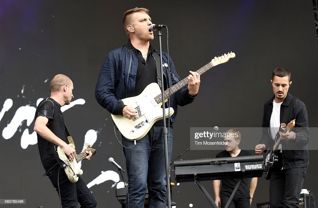 Matt Maust Nathan Willett Matthew Schwartz and David Quon of Cold War Kids performs during the Pemberton Music Festival on July 15 2016 in Pemberton...