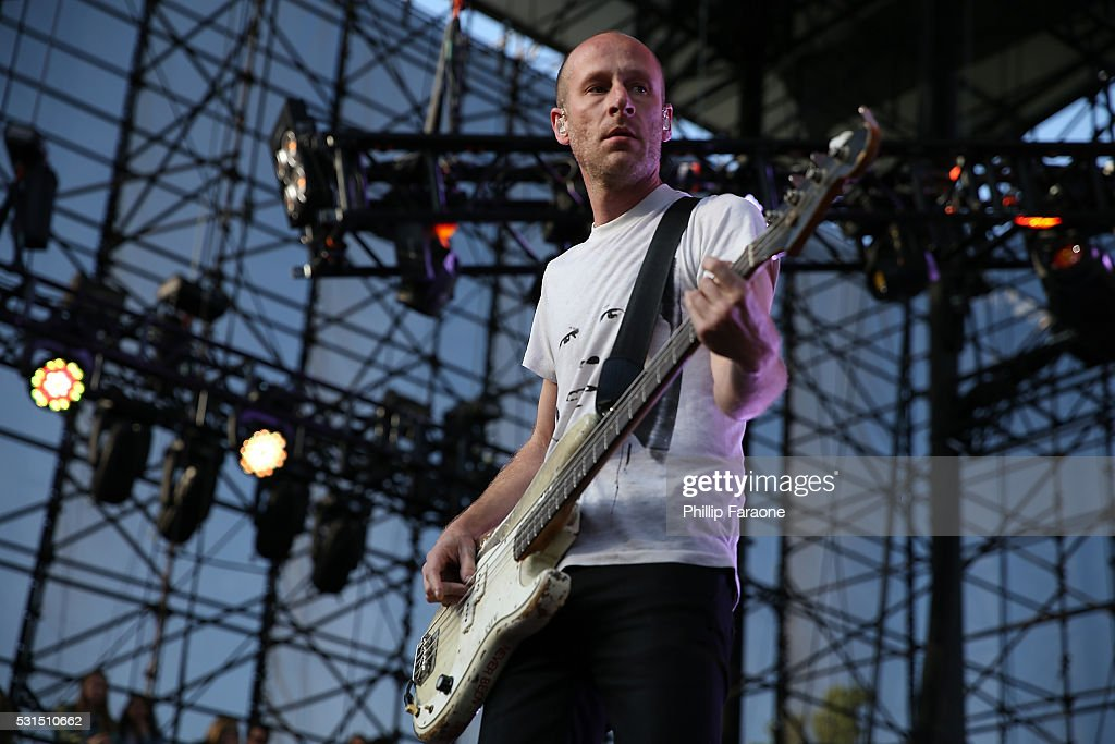 Matt Maust of the musical group Cold War Kids performs onstage during the 2016 KROQ Weenie Roast at Irvine Meadows Amphitheatre on May 14 2016 in...