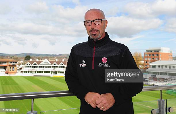 Matt Maynard Director of Cricket of Somerset poses during the Somerset CCC Photocall at the County Ground on April 8 2016 in Taunton England
