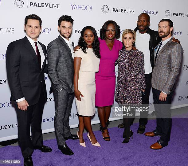 Matt McGorry Jack Falahee Aja Naomi King Viola Davis Liza Weil Billy Brown and Charlie Weber attend PaleyLive NY 'How To Get Away With Murder' at The...