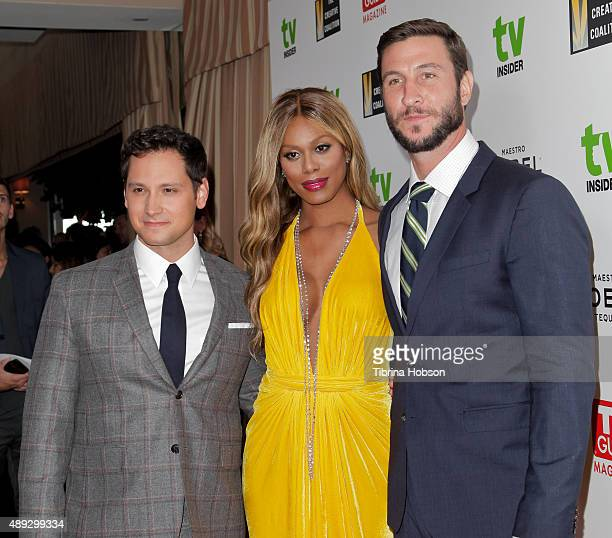 Matt McGorry Laverne Cox and Pablo Schreiber attend the Television Industry Advocacy Awards at Sunset Tower on September 18 2015 in West Hollywood...