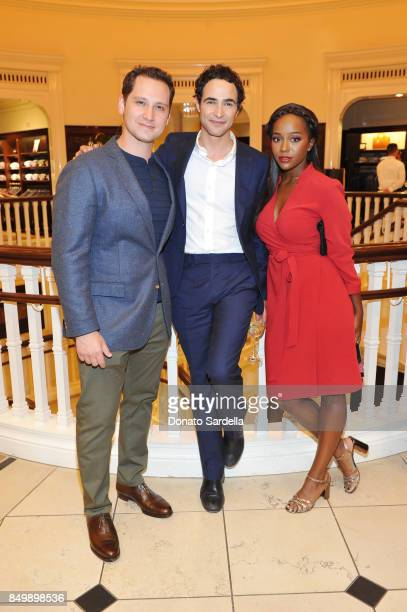 Matt McGorry Zac Posen and Aja Naomi King at Brooks Brothers and Vogue with Lisa Love And Zac Posen Host A Special Screening Event For 'House of Z'...