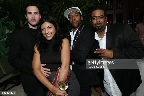 Matt McKane Sheree Hovsepian Jacko Sims and Terry Miles attend the After Party for Dennis Hopper's 'Signs of The Times' Opening at Indochine on...