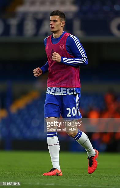 Matt Miazga of Chelsea after the Emirates FA Cup match between Chelsea and Manchester City at Stamford Bridge on February 21 2016 in London England