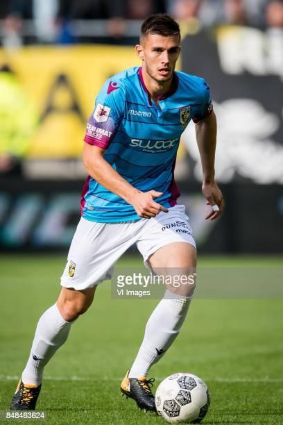 Matt Miazga of Vitesse during the Dutch Eredivisie match between Vitesse Arnhem and VVV Venlo at Gelredome on September 17 2017 in Arnhem The...
