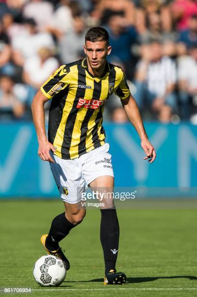 Matt Miazga of Vitesse during the Dutch Eredivisie match between Heracles Almelo and Vitesse Arnhem at Polman stadium on October 15 2017 in Almelo...