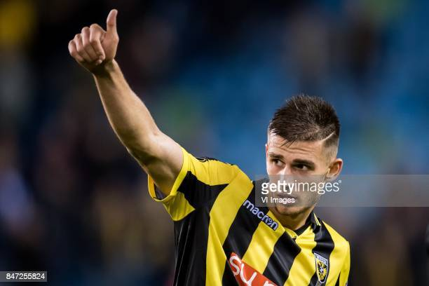 Matt Miazga of Vitesse during the UEFA Europa League group K match between Vitesse Arnhem and Lazio Roma at Gelredome on September 14 2017 in Arnhem...