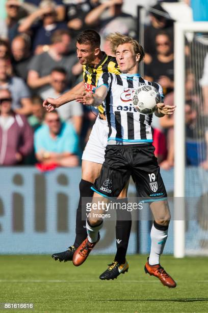 Matt Miazga of Vitesse Vincent Vermeij of Heracles Almelo during the Dutch Eredivisie match between Heracles Almelo and Vitesse Arnhem at Polman...