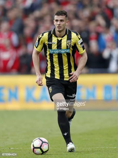 Matt Miazga of Vitesseduring the Dutch Cup Final match between AZ Alkmaar and Vitesse Arnhem on April 30 2017 at the Kuip stadium in Rotterdam The...