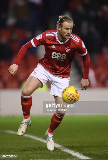 Matt Mills of Nottingham Forest on the ball during the Sky Bet Championship match between Nottingham Forest and Bolton Wanderers at City Ground on...