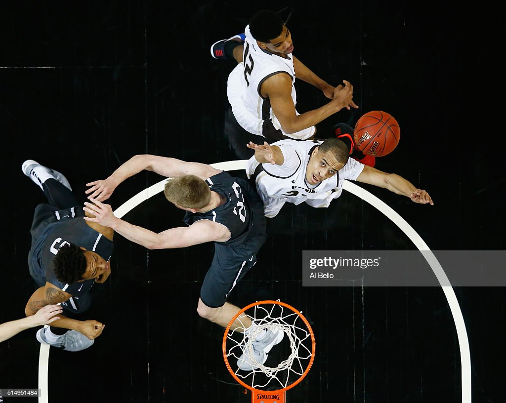 Matt Mobley of the St Bonaventure Bonnies shoots against the Davidson Wildcats during the Quarterfinals of the Atlantic 10 Basketball Tournament at...