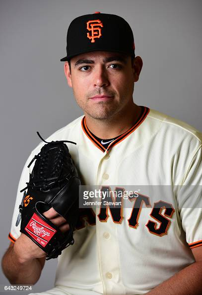 Matt Moore of the San Francisco Giants poses for a portait during a MLB photo day at Scottsdale Stadium on February 20 2017 in Scottsdale Arizona