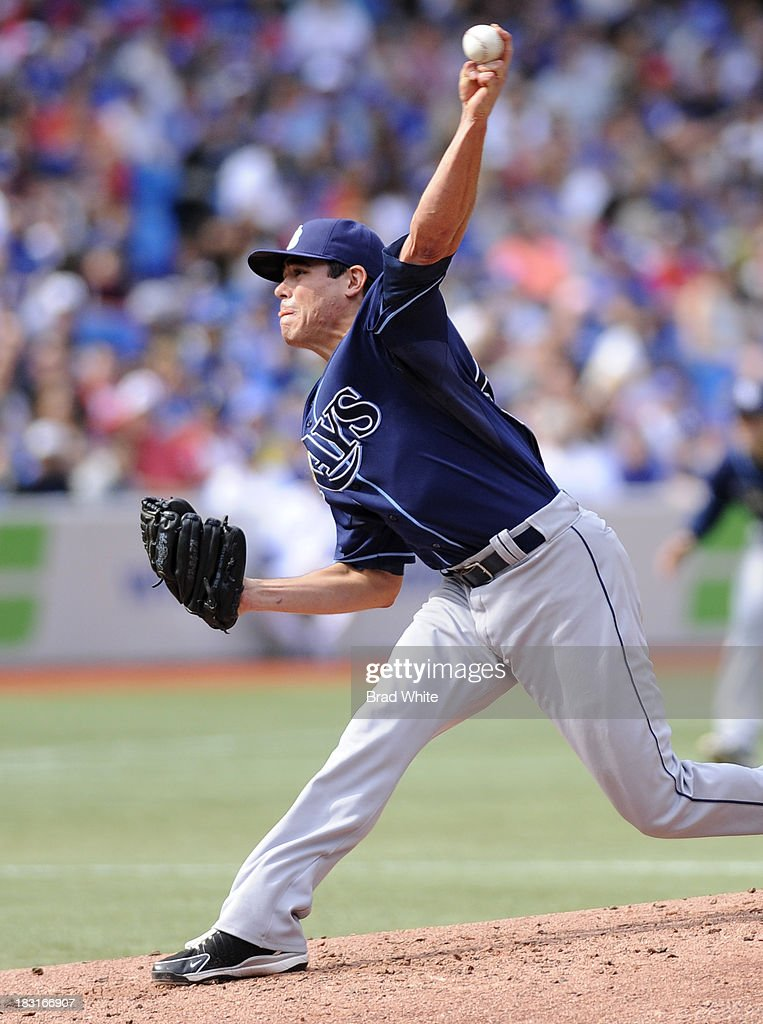 Matt Moore #55 of the Tampa Bay Rays delivers a pitch during MLB game action against the Toronto Blue Jays September 29, 2013 at Rogers Centre in Toronto, Ontario, Canada.