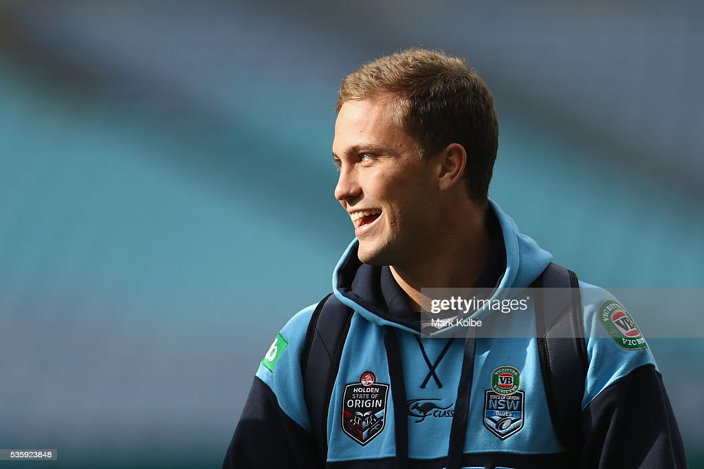<a gi-track='captionPersonalityLinkClicked' href=/galleries/search?phrase=Matt+Moylan&family=editorial&specificpeople=10892874 ng-click='$event.stopPropagation()'>Matt Moylan</a> arrives for the New South Wales State of Origin captain's run at ANZ Stadium on May 31, 2016 in Sydney, Australia.