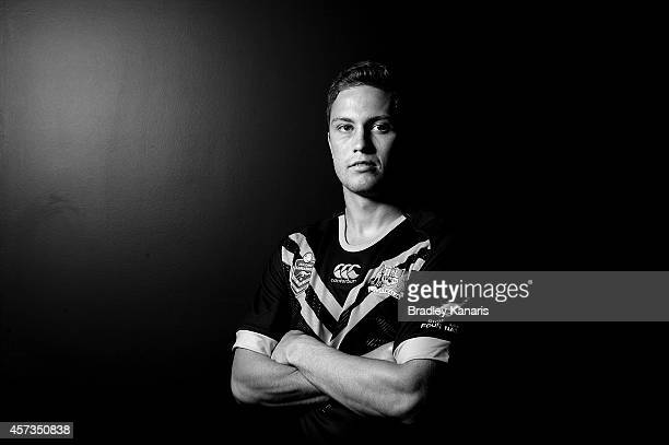 Matt Moylan during an Australian Kangaroos Four Nations media session at the Sofitel Hotel on October 17 2014 in Brisbane Australia