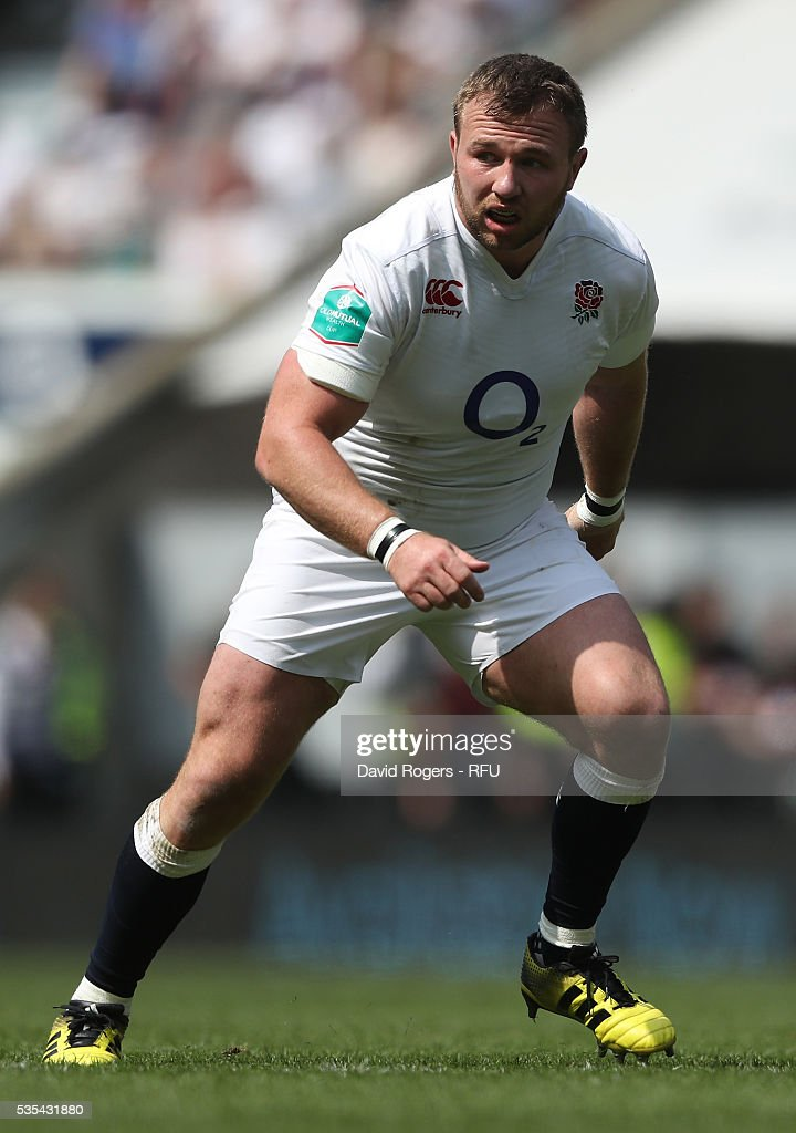 <a gi-track='captionPersonalityLinkClicked' href=/galleries/search?phrase=Matt+Mullan&family=editorial&specificpeople=705828 ng-click='$event.stopPropagation()'>Matt Mullan</a> of England looks on during the England v Wales International match at Twickenham Stadium on May 29, 2016 in London, England.