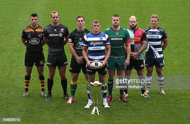 Matt Mullan of Wasps Alistair Hargreaves of Saracens George North of Northampton Saints Stuart Hooper of Bath Rugby Ed Slater of Leicester Tigers Joe...
