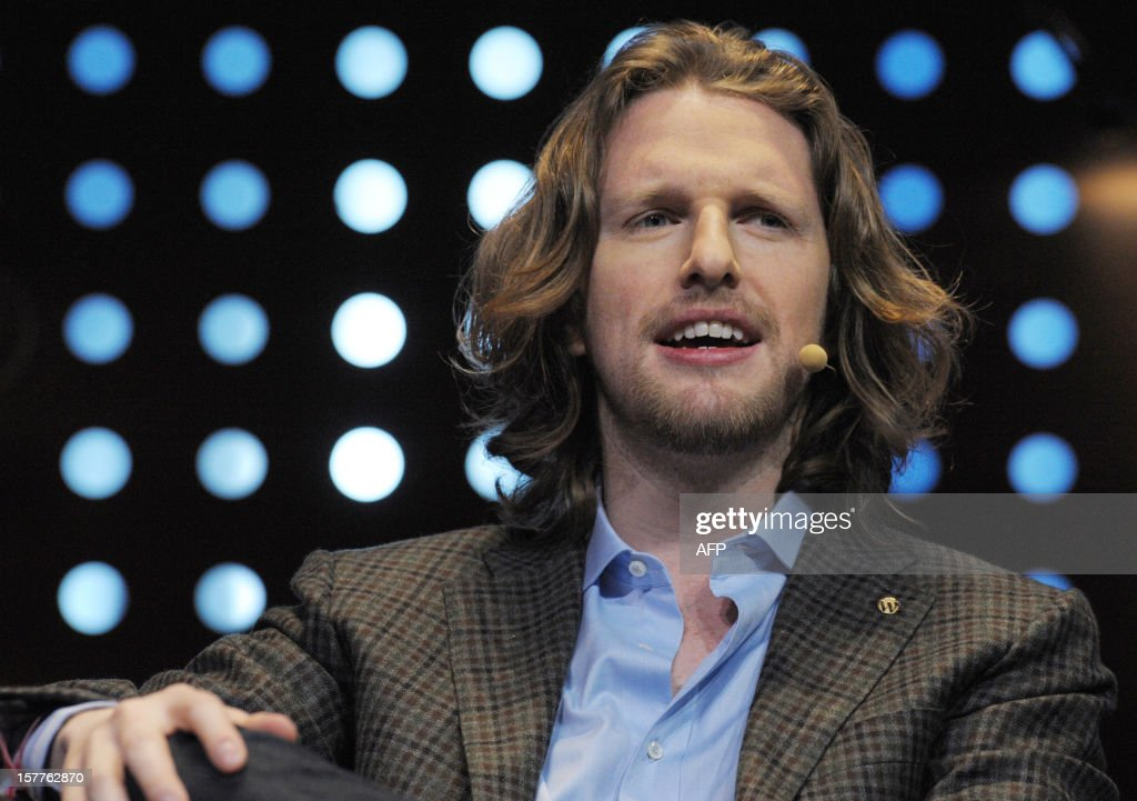 Matt Mullenweg, founder of web development corporation Automattic and Om Malik who also developped the free and open source web software, WordPress takes part in a jury for a Start-Up Competition during LeWeb conference in Saint-Denis, near Paris on December 6, 2012. Le Web is Europe's largest tech conference, bringing together the entrepreneurs, leaders and influencers who shape the future of the internet.