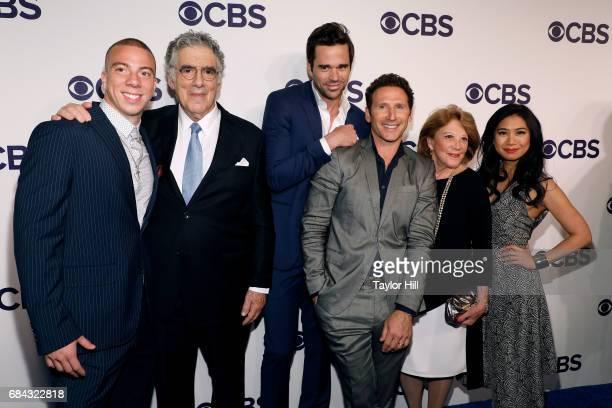 Matt Murray Elliott Gould David Walton Mark Feuerstein Linda Lavin and Liza Lapira attend the 2017 CBS Upfront on May 17 2017 in New York City