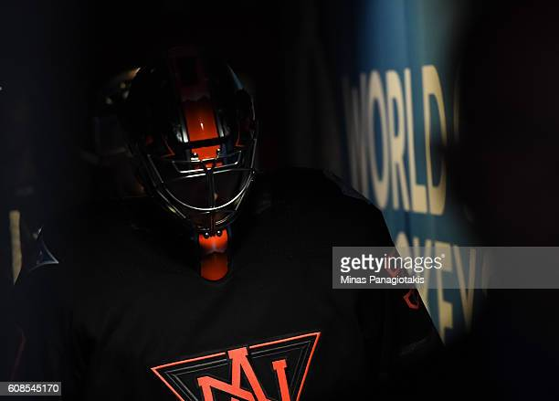 Matt Murray of Team North America leaves the ice from warmup prior to the game against Team Russia during the World Cup of Hockey 2016 at Air Canada...