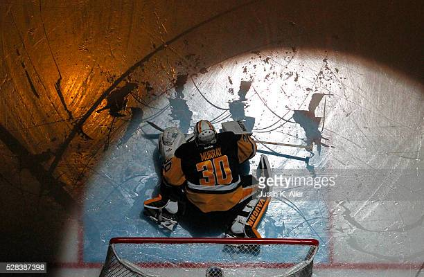 Matt Murray of the Pittsburgh Penguins stretches before the game in Game Four of the Eastern Conference Second Round during the 2016 NHL Stanley Cup...