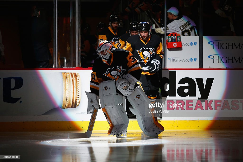 Matt Murray #30 of the Pittsburgh Penguins takes the ice prior to Game Seven of the Eastern Conference Final against the Tampa Bay Lightning during the 2016 NHL Stanley Cup Playoffs at Consol Energy Center on May 26, 2016 in Pittsburgh, Pennsylvania.