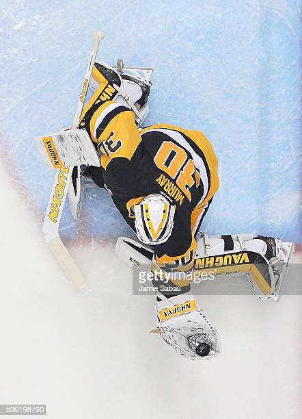 Matt Murray of the Pittsburgh Penguins tends goal against the San Jose Sharks in Game One of the 2016 NHL Stanley Cup Final at Consol Energy Center...