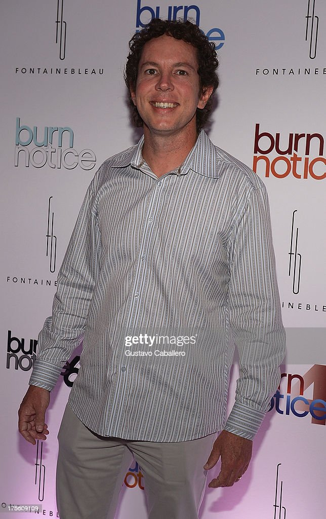 Matt Nix arrives at wrap party for 'Burn Notice' at Fontainebleau Miami Beach on July 27, 2013 in Miami Beach, Florida.